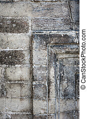 Antique stone wall detail - Fragment of antique building...