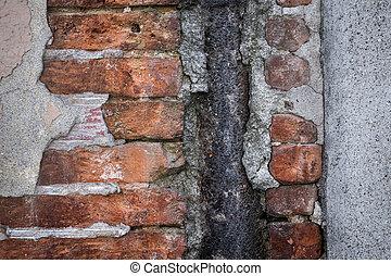Old brick wall abstract