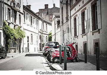 Toulouse street - Street view in old center of Toulouse,...