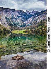 Berchtesgaden in Germany - Bavarian Alps. Berchtesgaden in...