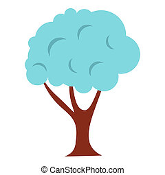 Tree in snow icon, flat style - Tree in snow icon in flat...