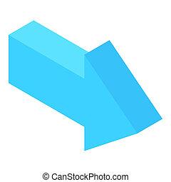 Straight arrow icon, cartoon style - Straight arrow icon in...