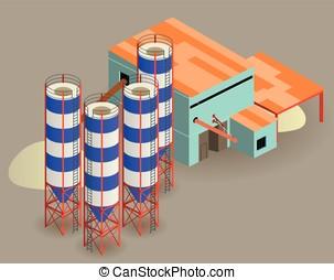 silo - isometric silo