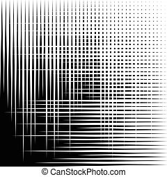Asymmetric grid mesh pattern. irregular monochrome abstract...