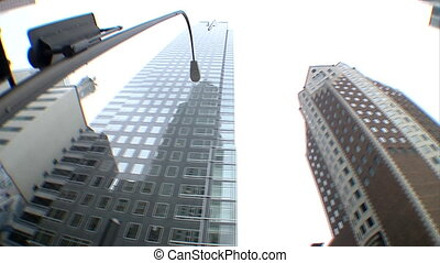 URB-0032-Skyscraper tower over fish - This is a unique shot...