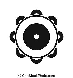 Tambourine icon in simple style - icon in flat style on a...