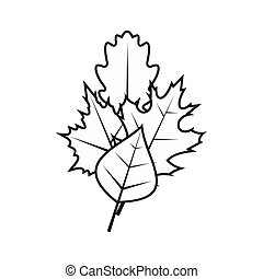 Leaves icon, simple style - icon in flat style on a white...