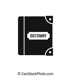 English dictionary icon, simple style - icon in flat style...
