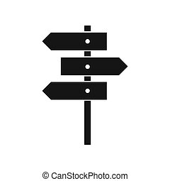 Direction signs icon, simple style - icon in flat style on a...
