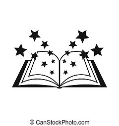 Magic book icon, simple style - icon in simple style on a...