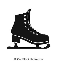 Skates icon in simple style - icon in flat style on a white...