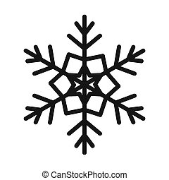 Snowflake icon in simple style - icon in flat style on a...