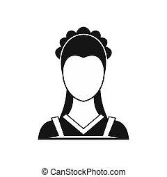 Maid icon in simple style - icon in simple style on a white...