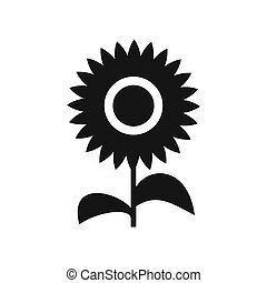 Flower icon in simple style - icon in flat style on a white...