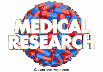 Medical Research Medicine Capsules Pills Find Cure 3d Illustration