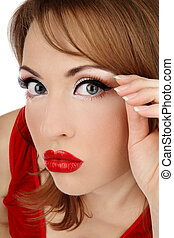 Time to facelift - Close-up portrait of attractive woman...