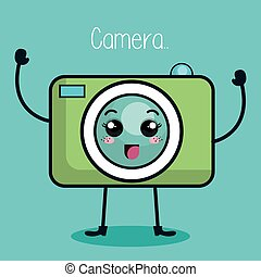 camera photographic character kawaii style