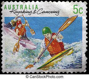 AUSTRALIA - CIRCA 1990: A stamp pri