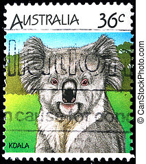 AUSTRALIA - CIRCA 1990s: A stamp printed in Australia shows...