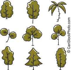 Doodle of tree simple collection