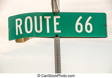 Route 66 Street Sign