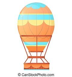 Aerostat. Balloon hot air