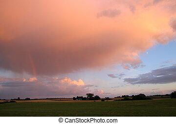 Rainbow -colored horizon