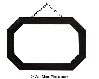 Octagonal Frame with Chain, isolated with clipping path