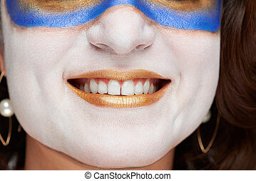 close up of woman smile