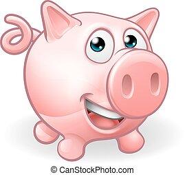 Cartoon Cute Pig Farm Animal - A cartoon cute pig farm...