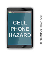 Cell Phone Hazard concept - 3D illustration of CELL PHONE...