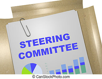 Steering Committee concept - 3D illustration of 'STEERING...