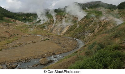 Valley of Geysers in Kamchatka Peninsula - Valley of...