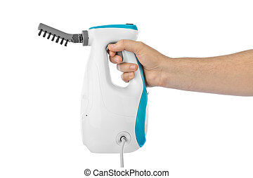 Steam cleaner in hand