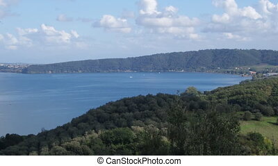 Bracciano Lake - View above Bracciano Lake from Bracciano...