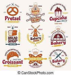 Flour Products Retro Style Emblems