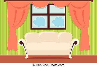 Home Interior Illustration - Home interior illustration with...