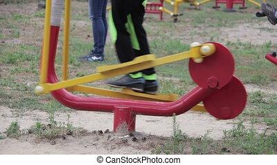 Children Fitness Equipment on the Street - Children's...