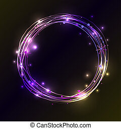 Abstract light circles background. illustration. - Abstract...