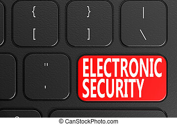 Electronic Security on black keyboard
