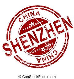 stämpel, röd,  Shenzhen