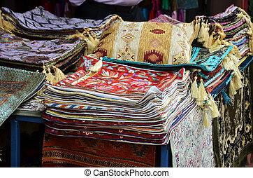Iranian carpets and rugs in Arab Street in Kampong Glam,...