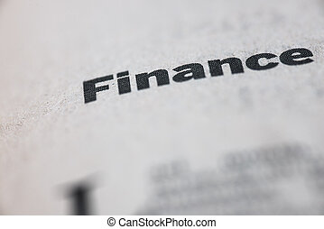 Finance single word