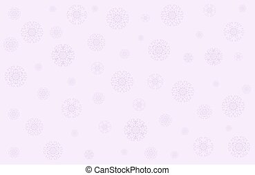 Christmas vector in gentle pink tones