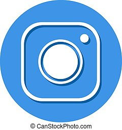 blue flat cam symbol - Creative design of blue flat cam...