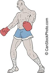 boxer exhausted - Creative design of boxer exhausted