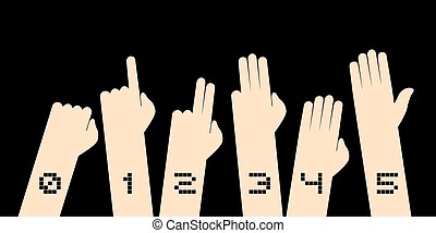 counting hands draw - Creative design of counting hands draw