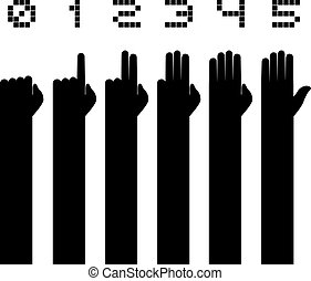 counting hands - Creative design of counting hands
