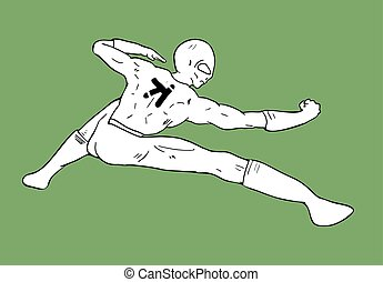 cretive kung fu pose - Creative design of cretive kung fu...