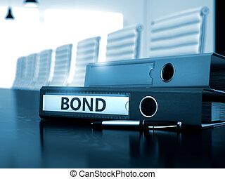 Bond on Office Folder. Blurred Image. 3D. - Bond - File...
